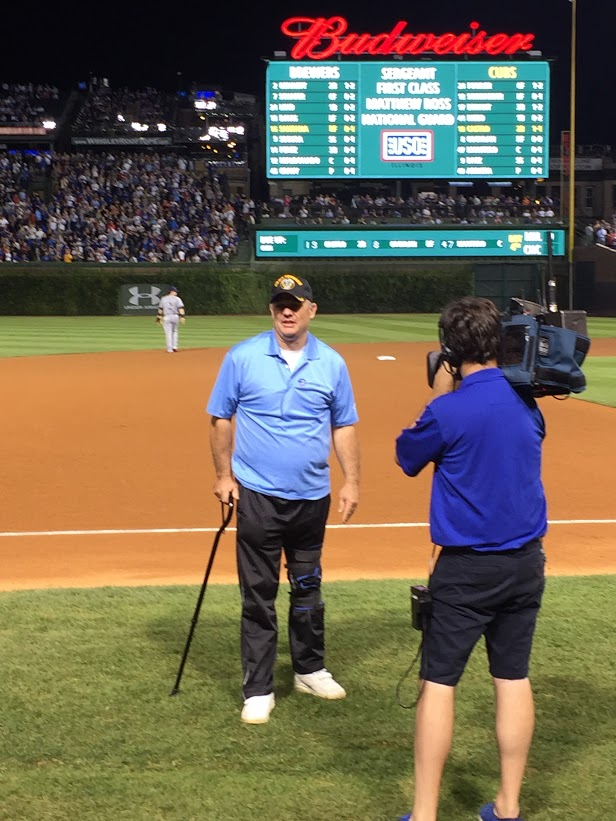 SoldierStrong Honored at Cubs/Brewers Game at Wrigley Field