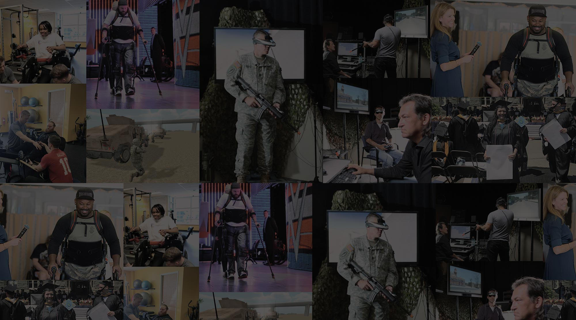 Image of a collage of highlights SoldierStrong has had with their services
